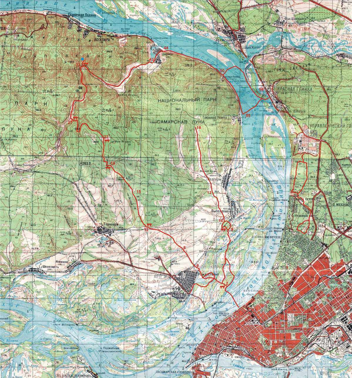 Лыжня политехников карта