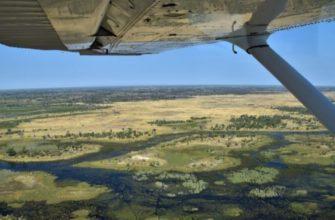дельта реки Окаванго в Ботсване